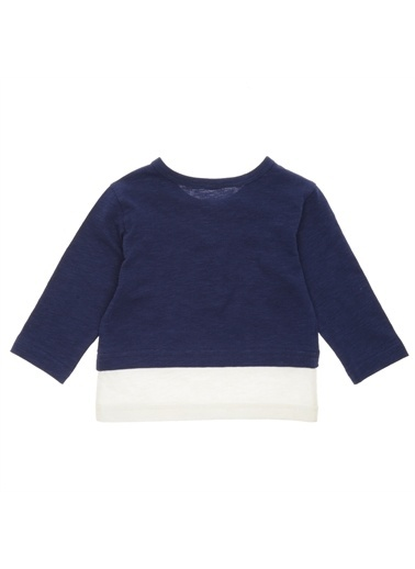 Panço Erkek Bebek Uzun Kollu T-shirt 19116095100 Lacivert